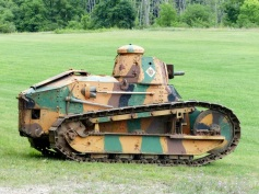 A Renault FT-17 stands guard
